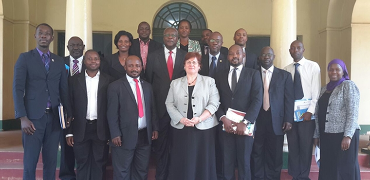 Executive Meeting between the Honourable Bart Katureebe the Chief Justice of Uganda and LASPNET